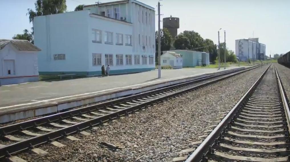 Железнодорожная платформа в Дмитриеве.